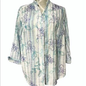 🇨🇦Alfred Dunner 3/4 Sleeve Blouse